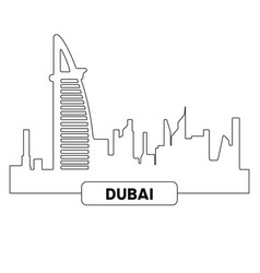 cityscape of dubai vector image