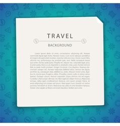 Colorful Travel Background with Copy Space vector image
