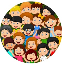 Crowd of children vector image
