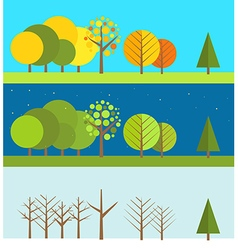 Different wheather flat design set vector