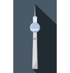 Dynamic Berlin television tower Germany vector image