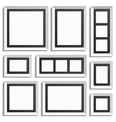 Empty modern frames vector image vector image
