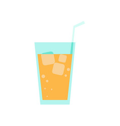fresh orange juice simple flat vector image