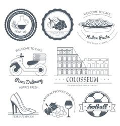 Italy country set label template of emblem vector