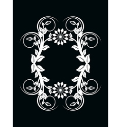 number zero made with floral ornament on black bac vector image vector image