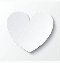 Paper heart valentines day card on white vector