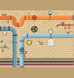 Pipeline plumbing background vector