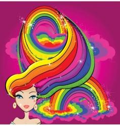rainbow girl vector image