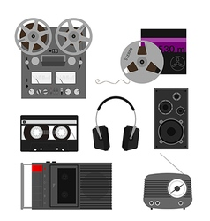 Retro audio vector image