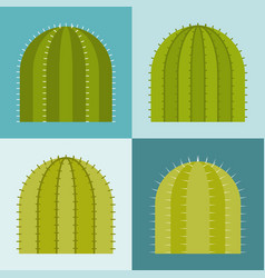 set of cactus flat design vector image vector image