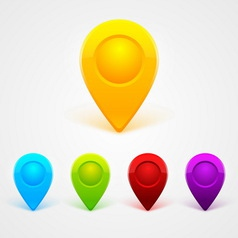 Simple colored gps icons vector image vector image