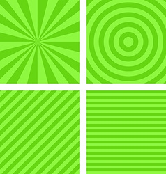 Simple lime color striped pattern set vector