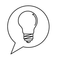 Speech bubble with bulb light vector