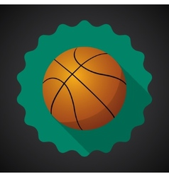 Sport Ball Basketball Flat icon background vector image vector image