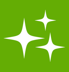 stars icon green vector image