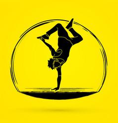 Street dance dancer action graphic vector