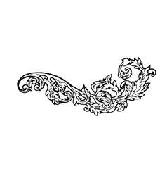 Vintage floral design element Decorative element vector image vector image