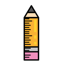 wooden pencil writing image vector image