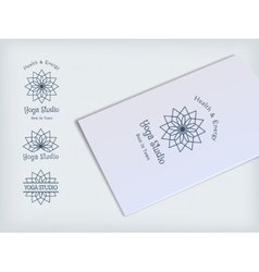 Yoga Studio Logo Template Set vector image