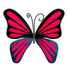 Pink butterfly icon cartoon style vector image