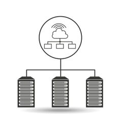 Cloud wifi data center connection vector