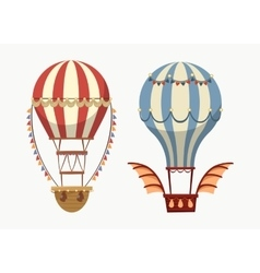 Transport air balloon with balance and lights vector