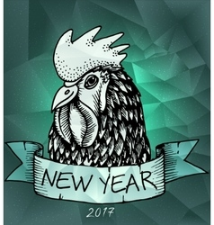 Rooster year design for wallpaper banner vector