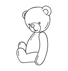 Hand drawn Teddy bear vector image