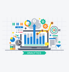 Analytics search information vector