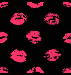 Hand drawn fashion lipstick kiss vector