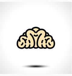 Abstract brain logo vector