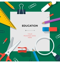 Education and science concept - template with vector
