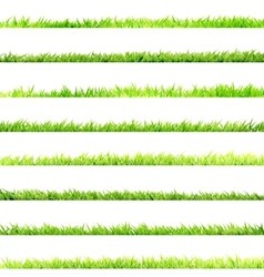 8 item set small grass eps 10 vector