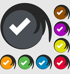 Check mark sign icon confirm approved symbol vector