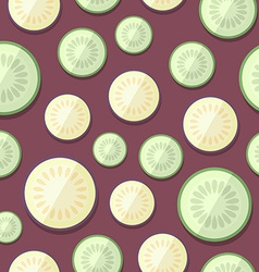 Set of vegetables patterns in a flat style - vector