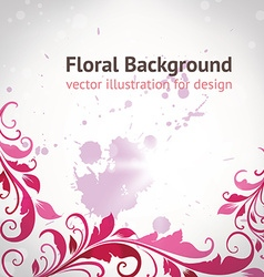 Retro floral border vector