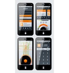 Smartphone infographics vector
