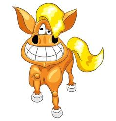 Happy funny horse vector