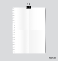 Collection of white papers ready for your message vector