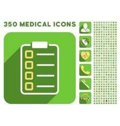 Test form icon and medical longshadow icon set vector