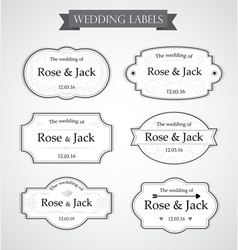 Vintage wedding labels vector
