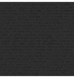 seamless writing pattern on dark gray background vector image