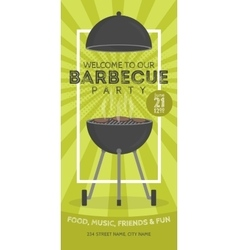 Lovely barbecue party invitation design vector image