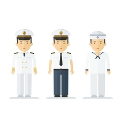 Profession sailor mans suits vector