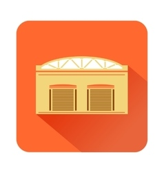 Warehouse factory icon flat style vector