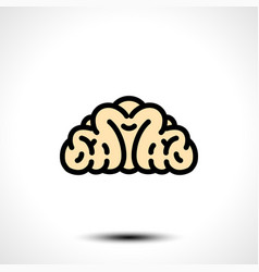 abstract brain logo vector image vector image
