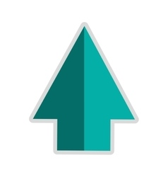 Arrow pointing up icon vector