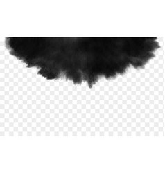black ink wash detailed grunge splash vector image vector image