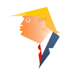 Caricature of president donald trump vector