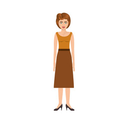 Colorful silhouette of woman with blouse and long vector